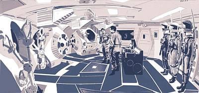 Digital Art - Pod Bay by Kurt Ramschissel