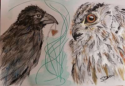 Painting - Poe And Ollie by Susan Snow Voidets