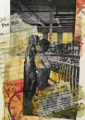 Mixed Media - Poe Mill Boys by Edith Hardaway