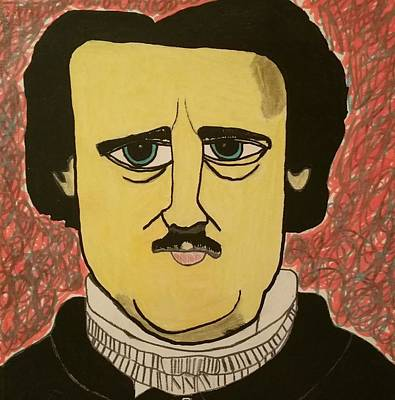 Abomination Drawing - Edgar Allan Poe  by Paulo Guimaraes