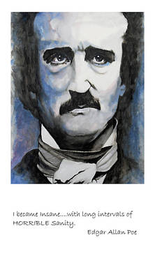 Acrylic Painting - Poe Qoute by William Walts
