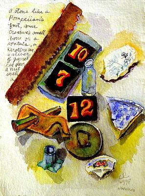 Wa Painting - Poem By Vladimir Nabokov by Cassandra Einstein