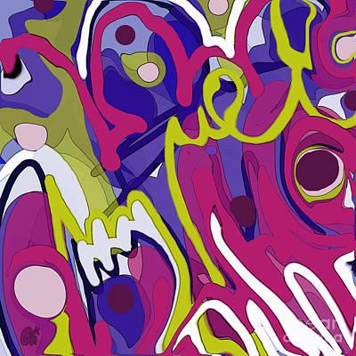 Digital Art - Poem Melt by Carol Jacobs