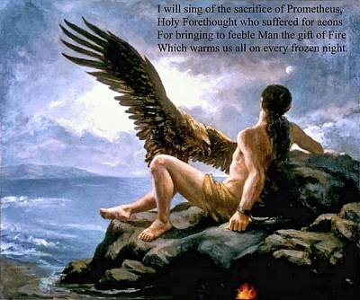 Painting - Poem To Prometheus by Troy Caperton