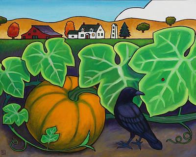Poes Crow Art Print