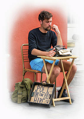 Enterprise Photograph - Poet For Hire - Vignette by Steve Harrington
