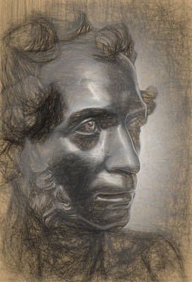 Photograph - Pencil Poet Pushkin by John Williams