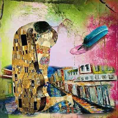 Woman Digital Art - Poet Streets by Laura Botsford