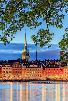 Photograph - Poetic Stockholm Blue Hour by Dejan Kostic