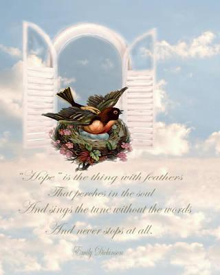 Poetic Words Of Dickinson Art Print