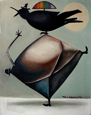 Bird Painting - Poetics by Martel Chapman
