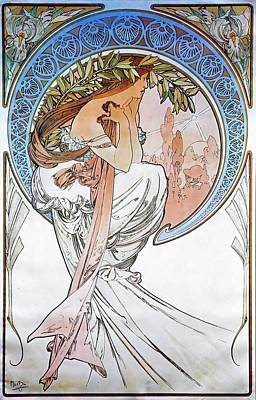 Painting - Poetry by Alphonse Mucha