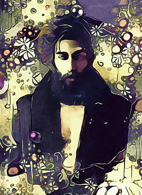 Mixed Media - Poetry Man by Susan Maxwell Schmidt