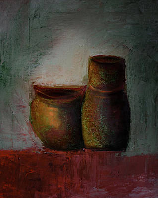 Painting - Poetry Of Pottery by Rae Ann  M Garrett
