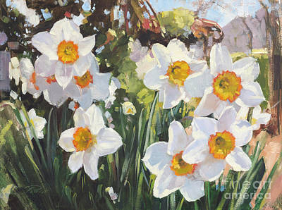 Wall Art - Painting - Poet's Daffodils by Patrick Saunders