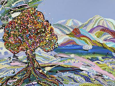 Painting - Poet's Lake by Erika Pochybova