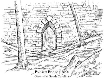 Architecture Drawing - Poinsett Bridge by Greg Joens