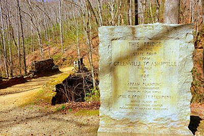 Poinsett Bridge Historical Marker Print by Lisa Wooten