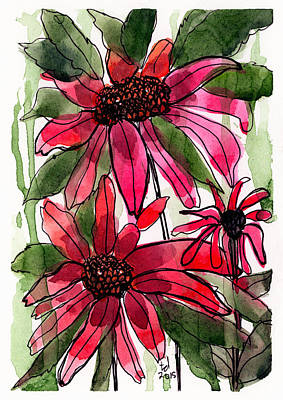 Poinsettia 2 Art Print by Tonya Doughty