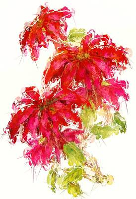 Nature Abstracts Painting - Poinsettia by Amanda Lakey