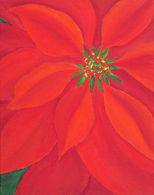 Painting - Poinsettia For Christmas by Iryna Goodall