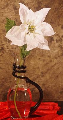 Photograph - Poinsettia In Pitcher  by Buddy Scott