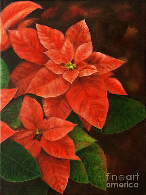 Flower Painting - Poinsettia by Kathleen Wong