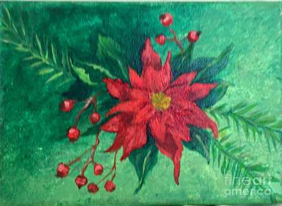 Painting - Poinsettia by Lucia Grilletto