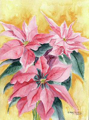 Painting - Poinsettia by Melly Terpening