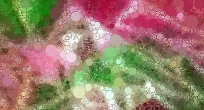 Digital Digital Art - Poinsettia - Mosaic Abstract by Katrina Britt