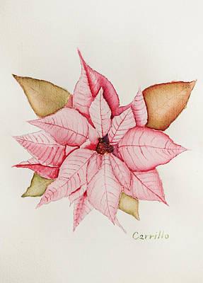 Ruben Carrillo Wall Art - Painting - Poinsettia Pink Celebration by Ruben Carrillo
