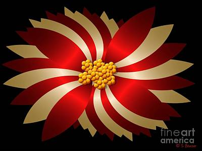 Digital Art - Poinsettia by Sandra Bauser Digital Art
