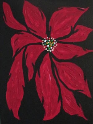 Painting - Poinsettia - The Season by Sharyn Winters