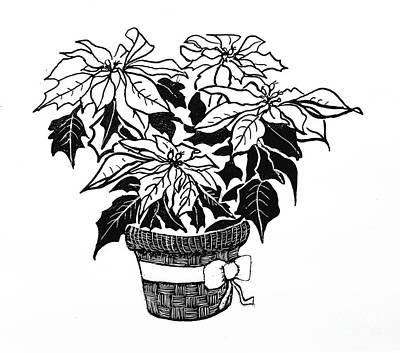 Houseplants Drawing - Poinsettia2 by JA Wiese