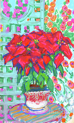 Painting - Poinsettias  by Candace Lovely