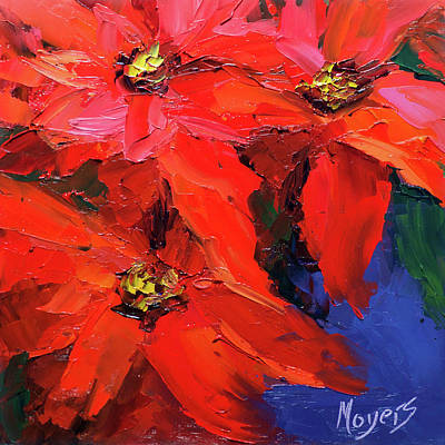 Poinsettias Art Print by Mike Moyers