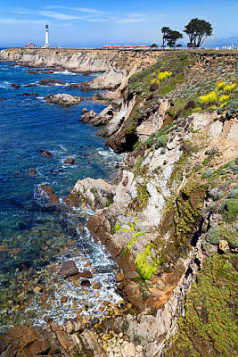 Mendocino California Coast Photograph - Point Arena Lighthouse Spring by Kathleen Bishop