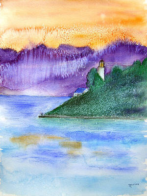 Painting - Point Atkinson Lighthouse by Marina Garrison