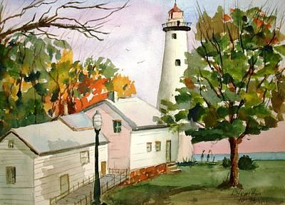 Point Aux Barques Lighthouse - Port Hope Mi Art Print