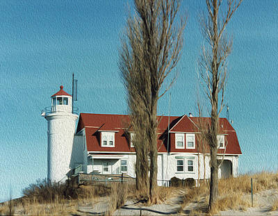 Photograph - Point Betsie Light by Debby Richards