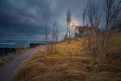 Photograph - Point Betsie Lighthouse In Frost by Thomas Gaitley