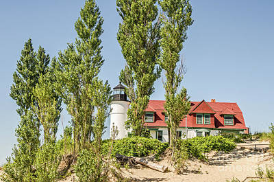 Art Print featuring the photograph Point Betsie Lighthouse by Sue Smith