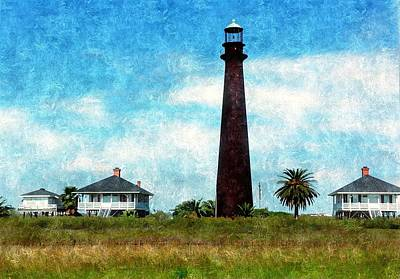 Photograph - Point Bolivar Lighthouse 1872 by Karl Reid