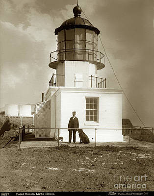 Photograph - Point Bonita Light House, Marin County Circa 1890 by California Views Mr Pat Hathaway Archives