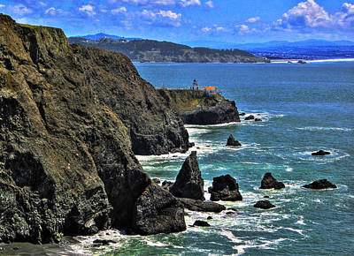 Print featuring the photograph Point Bonita Lighthouse by Richard Stephen