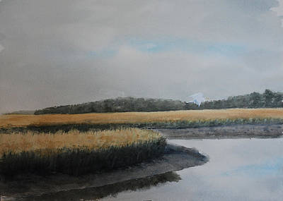 Tidal Creek Painting - Point Comfort by Stanton D Allaben