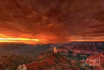 Photograph - Point Imperial Storm North Rim Grand Canyon Arizona by Dave Welling