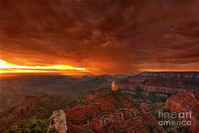 Photograph - Point Imperial Storm North Rim Grand Canyon Arizona by Dave Wellingnorth rim grand canyon arizona