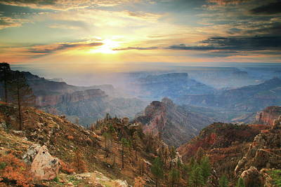 Photograph - Point Imperial Sunrise, Grand Canyon by Roupen  Baker