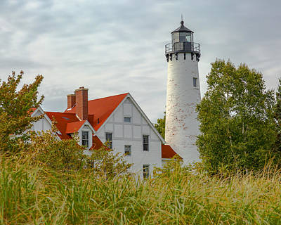 Photograph - Point Iroquois Lighthouse by Jack R Perry